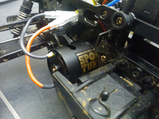 Motor attached to Blackfoot Chassis