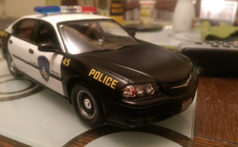 Chevy Impala Police Car Complete