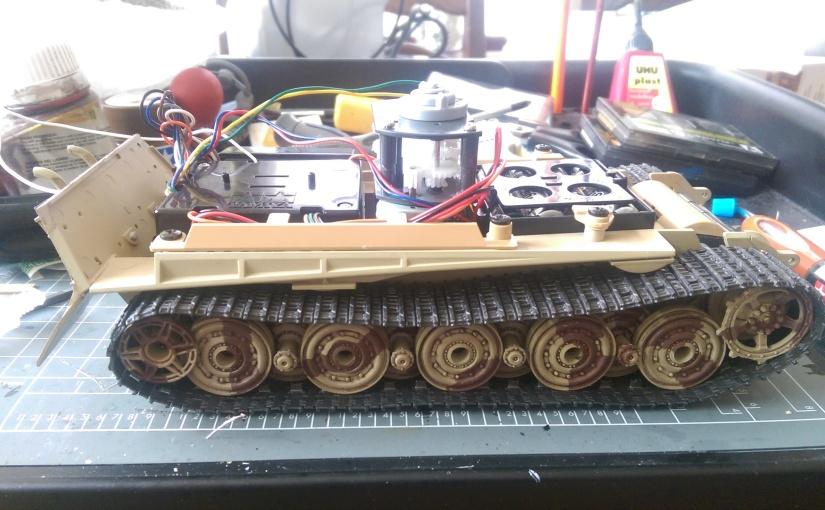Tamiya 1:35 King Tiger Radio Electronics and LowerHull