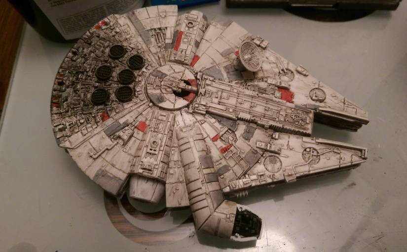revell  millennium falcon shanes shed